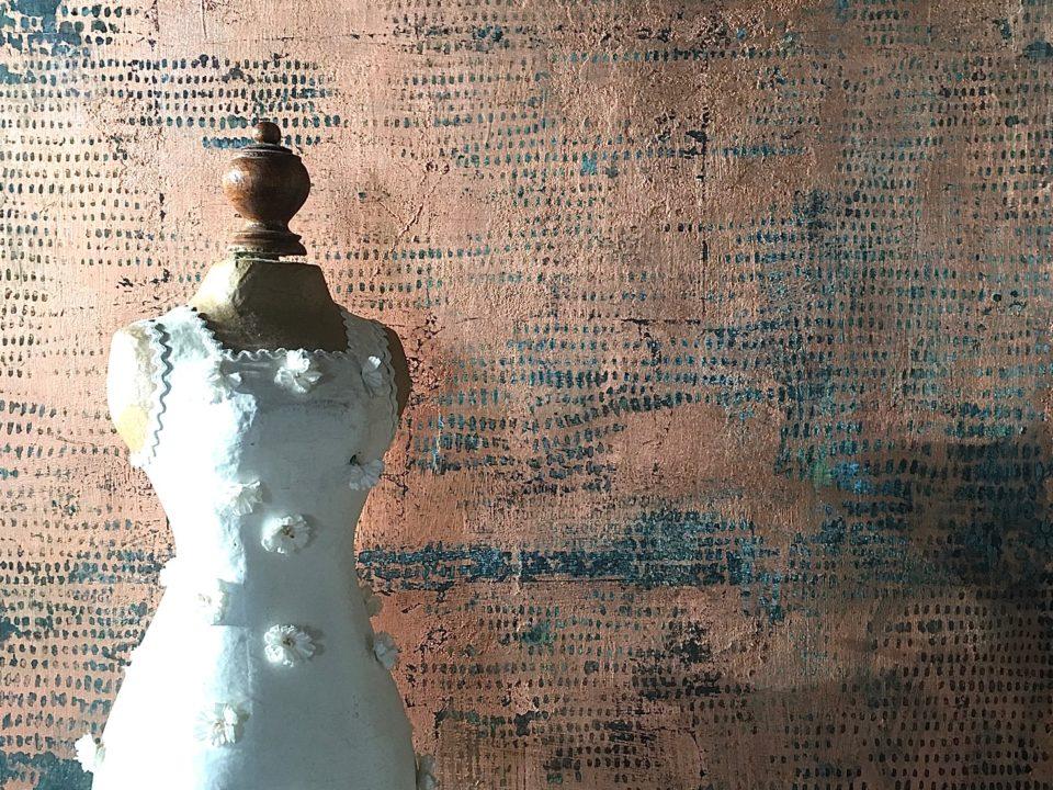 muri ossidati, pareti ossidate, muri foglia oro