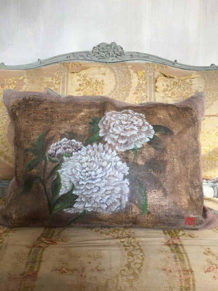 arredamento d'inerni cuscino peonie