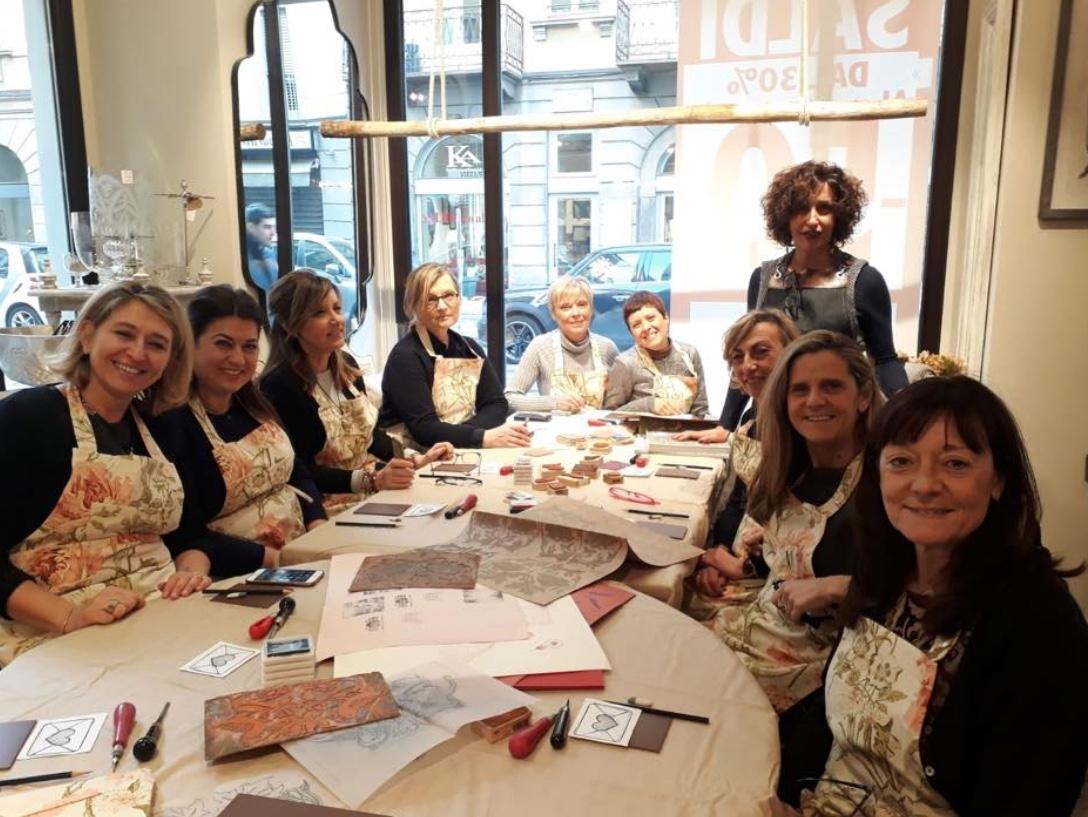 workshop carta e inchiostro da Blanc Mariclò a Brera Mialno